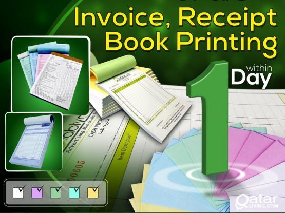 Invoice Receipt Book Printing