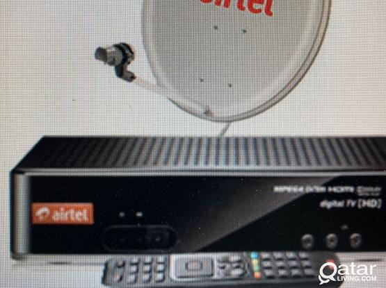 Airtel Receiver & Antenna With Long Cable For Sale