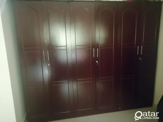 Spacious 6 door wardrobe in perfect condition for immediate sale