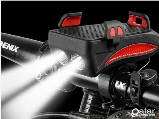4-in-1 Horn LED Bike/ Bicycle light (Brand new)