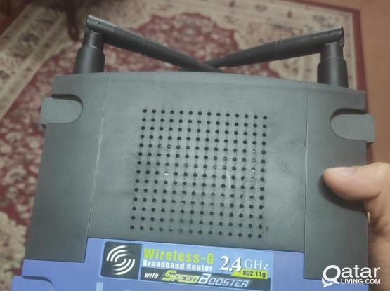 linksys router with power cable