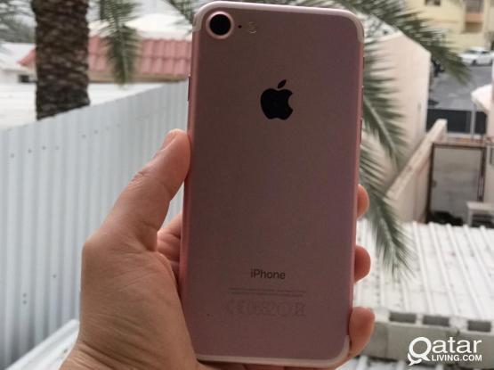 Iphone 7 128 gb like new (female used) rose gold