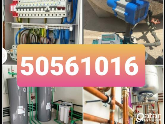 Electric plumbing works. Other maintenance works also available. Please call 50561016