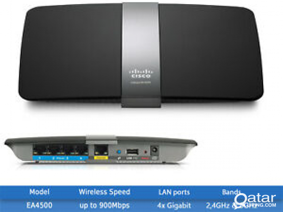 Cisco Linksys EA4500 N900 Dual-Band Wi-Fi Router