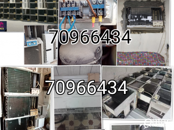 We do all type AC repair and service, also buying and selling AC. Please call 70966434/31175352