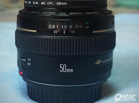 Canon 50mm f/1.4 USM lens  for sale