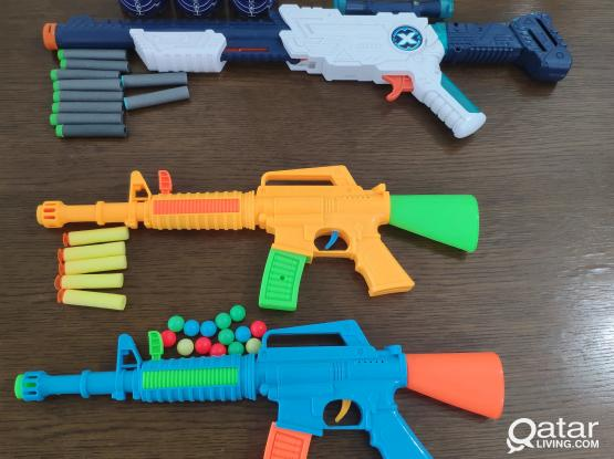 Toy Guns, Water Guns, board games and other toys for sale