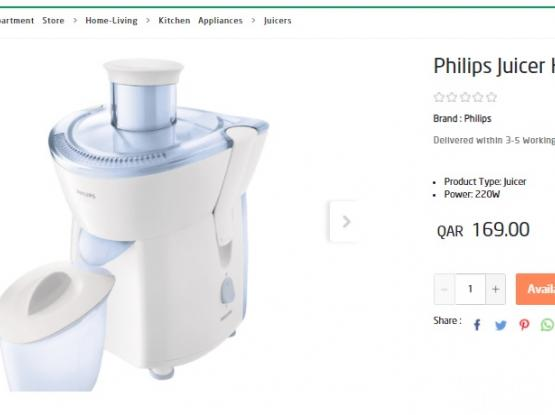 Philips Juicer HR1823/05