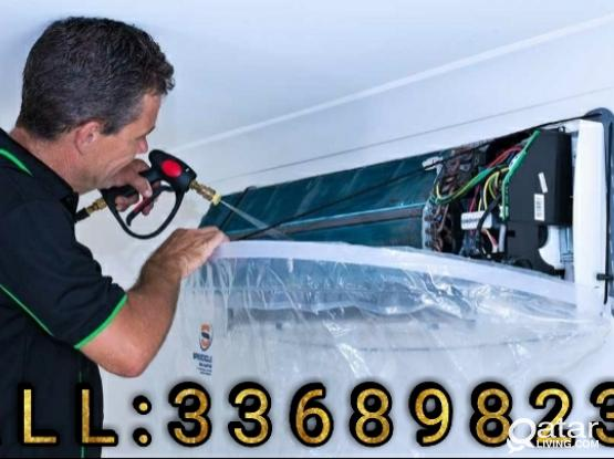 We Clean AC by water pressure, It is the best way of Cleaning Air Conditioner