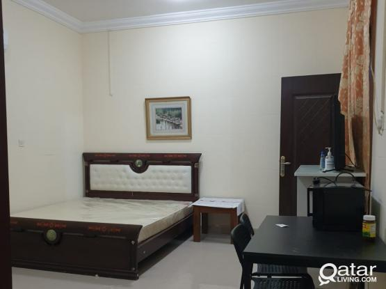 Furnished Studio For Rent in Al Waab / Luaib Back side Khalifa Stadium.
