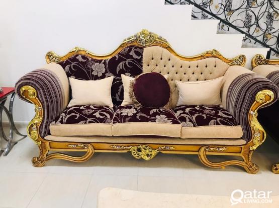 Royal Egyptian sofa 7 seater with 3 table