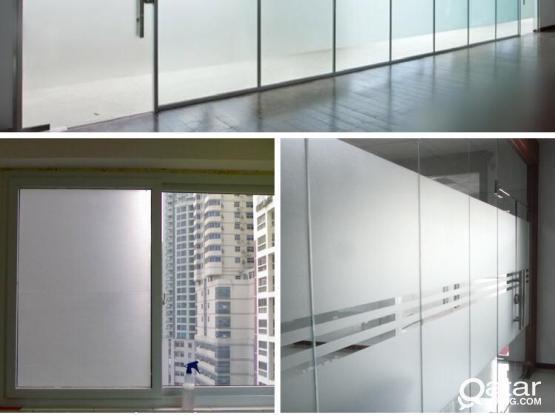 Glass Sticker, Frosted Film, Sandblasting Glass Sticker Supply & Installation Works
