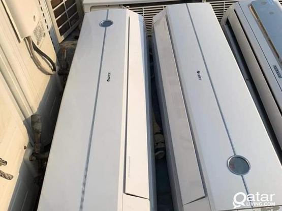 Gree AC 1.5 ton 2 ton 2.5 ton available wath fixing Call: 30326556