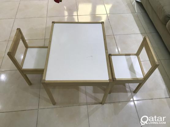 Study Table for Kids with 2 chairs