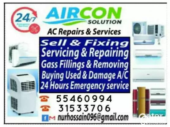 Ac cleaning or servicing  and repair , buying or selling   split and window type ac  - 55460994