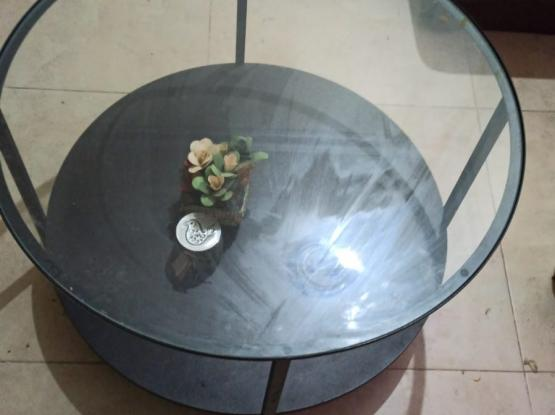 Coffee glass top table Ikea WhatsApp only to 55294958