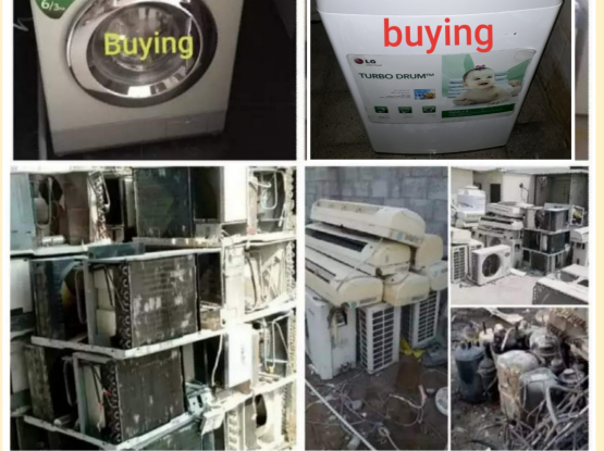 buying washing maching & scrap ac