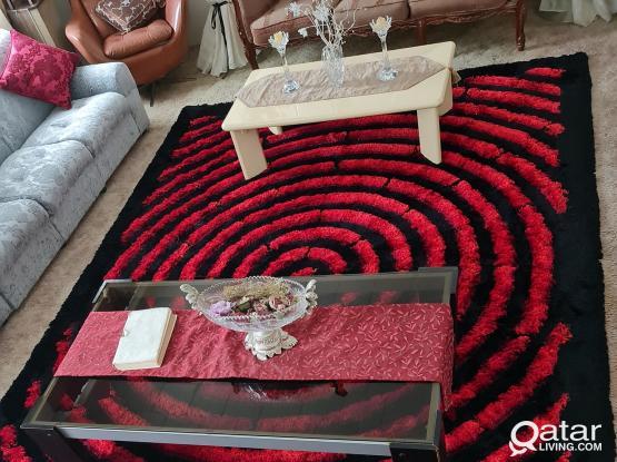 Black & Red Sheep Carpet