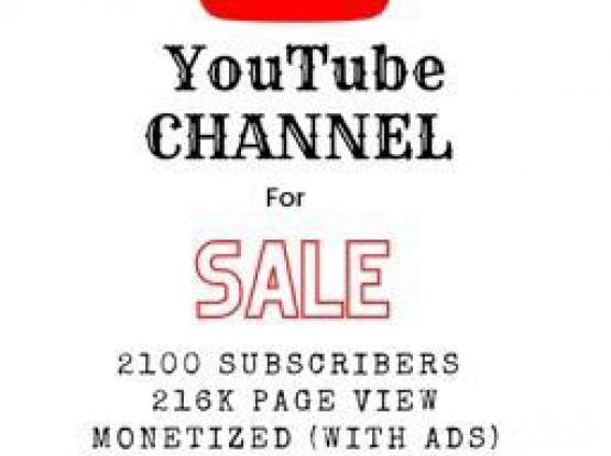 YouTube Monetize Channel For Sale