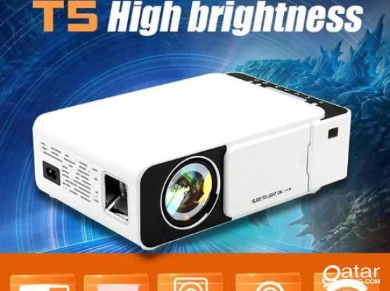 T5 Portable LED 1080P Video HD Projector 2600 Lumens 800*400 Wi-Fi Ready With HDMI, VGA, AV, USB, SD