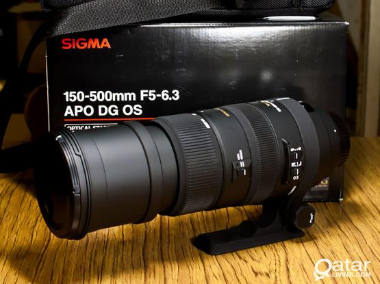 Sigma 150-500mm F5-6.3 DG APO OS HSM for canon