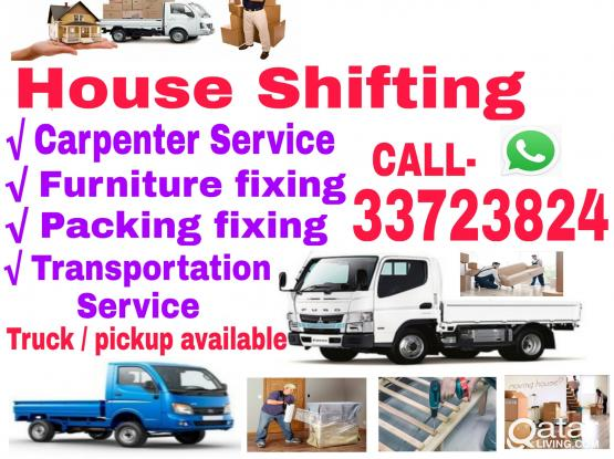 Good price for Shifting Moving Truck & Pickup available. Please Call 33723824 or WhatsApp, all type furniture dismantling, packing and Carpenter Service.