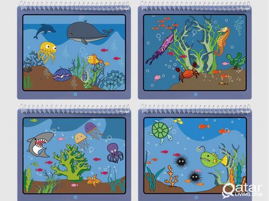 Tumama Kids Magic Water Drawing Book – Ocean