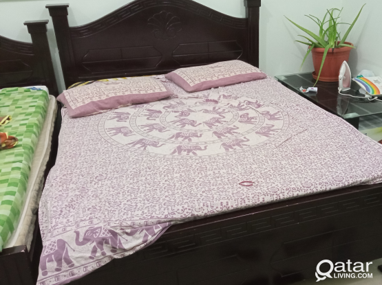 Queen size cot and Double cot with Matress  for sa