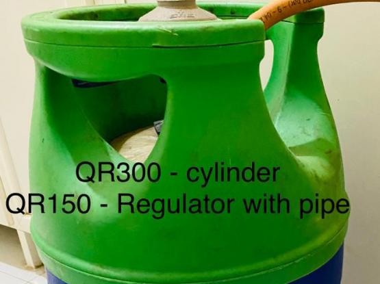 Gas Cylinder with Regulator,pipe & Free Gas Stove