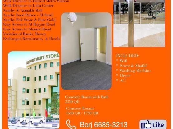 Big Rooms for Filipino, AlSaad near Train Stations
