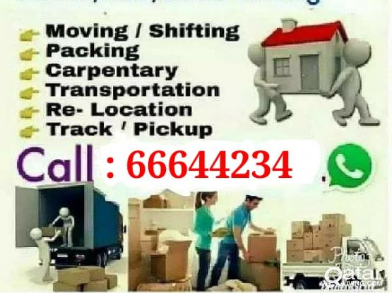 All type of shifting, Moving and Relocation . Please call 66644234