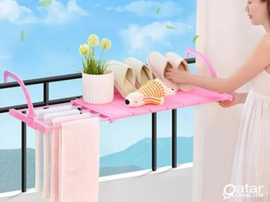 Foldable Balcony Towel/Clothes/Shoe Hanging Drying Storage Organizer