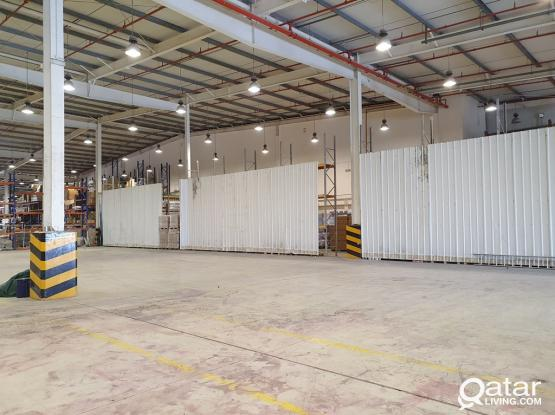 Storage areas from 100sqm to 2000 SQM