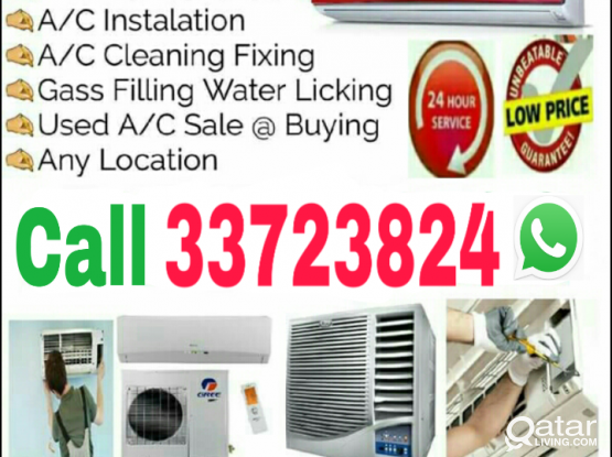Good Price, Qatar all type Ac Buying & Selling with fixing and Servicing Call WhatsApp 33723824