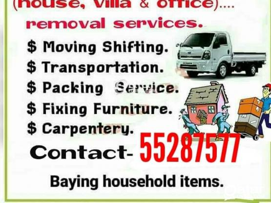 We do less price moving shifting carpenter transport services.plz call me 55287577