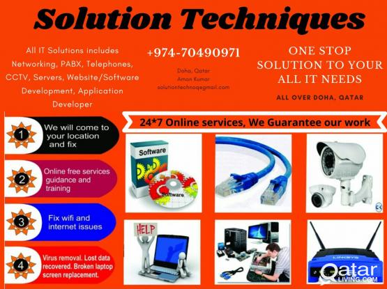 All IT services, Networking, Telephony, CCTV