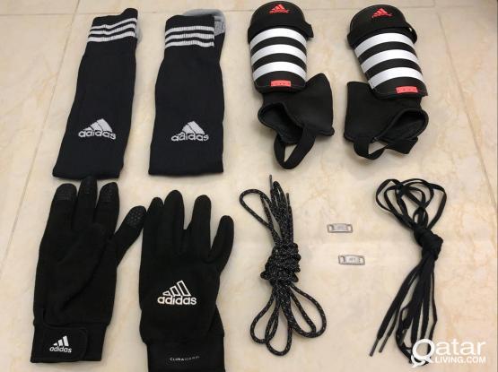 Adidas Football Items: Shinpads, Gloves, Shorts, Socks For Sale