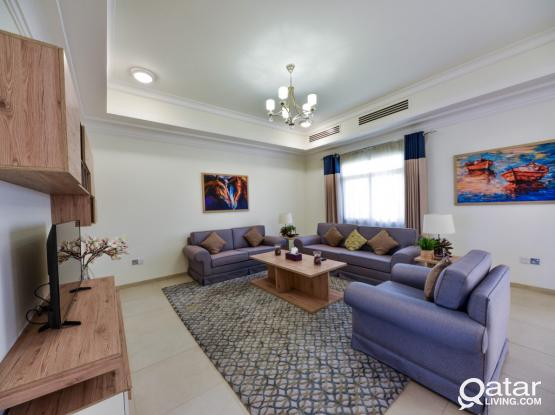Fully Furnished 3BD villa in Al Waab - 14 months contract