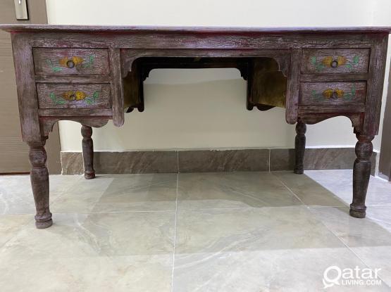 Hand-Drawn Wooden Desk