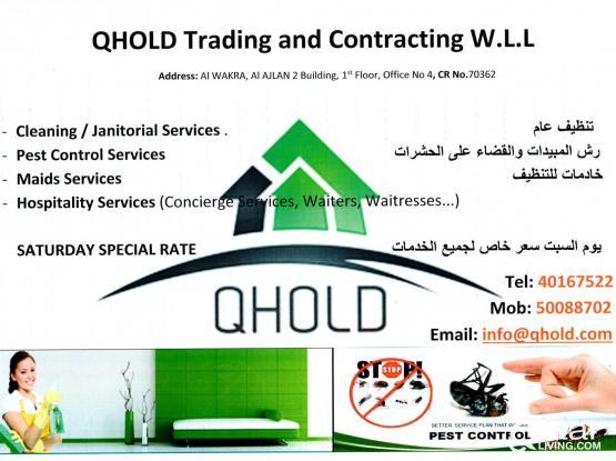 Best Cleaning Services at Doha/Wakra/Pearl Qatar