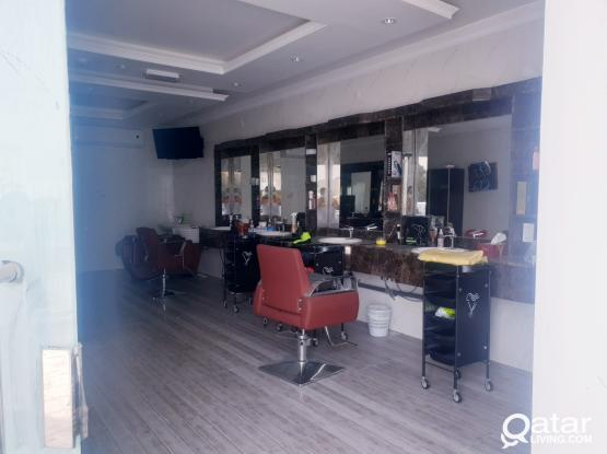 Brand new Gents saloon with fully occupied In New Salata.