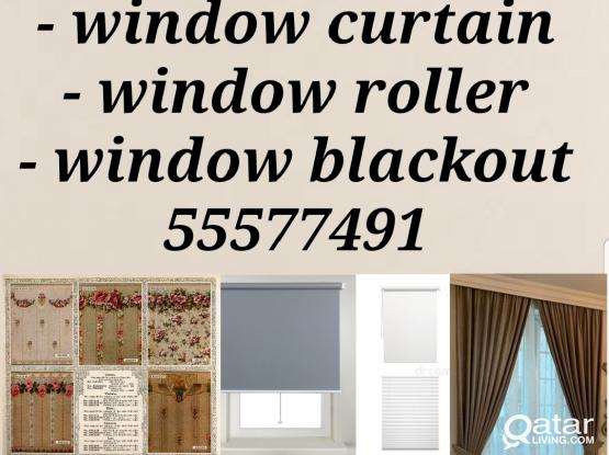 Window curtain roller blackout sell and fixing