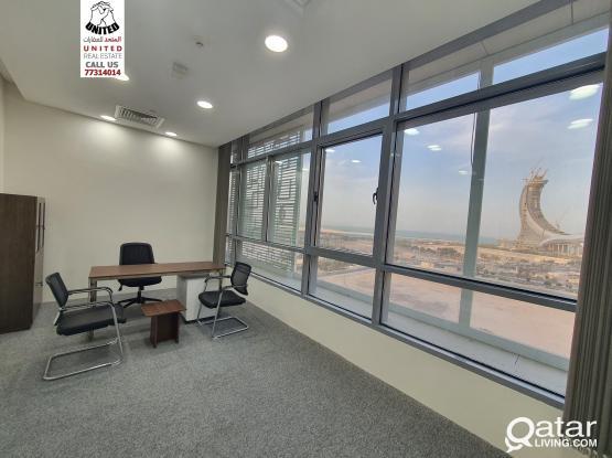 مكاتب في مركز اعمال في اللوسيل  المارينا Marina twin Tower