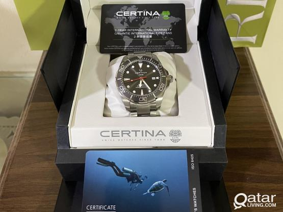 Titanium  BRAND NEW ORIGINAL CERTINA AUTOMATIC Divers Watch