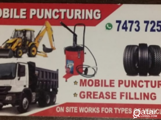 Mobile puncture.
