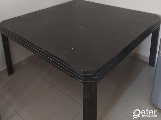 Strong wooden 8 seater dining table
