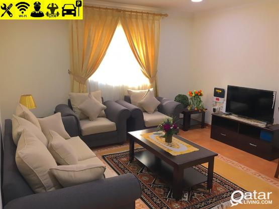 *NO COMMISSION* 2bhk with spacious kitchen FF apartment close to corniche with free GYM and Wi-Fi