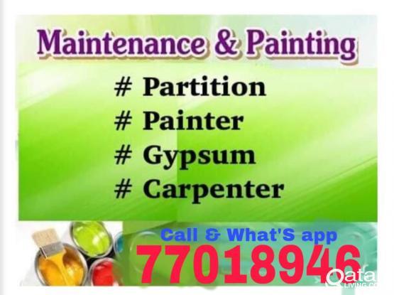 ALL KIND OF MAINTENANCE WORKS. Plumbing, Tiles, Painting, Gypsum Board, Carpet. 77018946