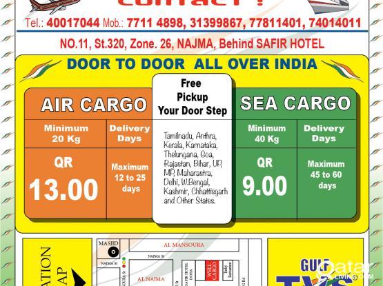 Well Cargo ServiceS Door to Door.. India, nepal, srilanka,philippine, indonesia