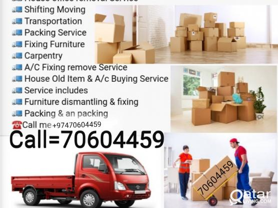 All type of Moving and Shifting. At your service 24/7. Please contact 70604459